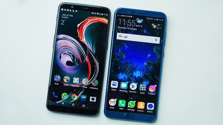 AndroidPIT honor view 10 против oneplus 5t 8660