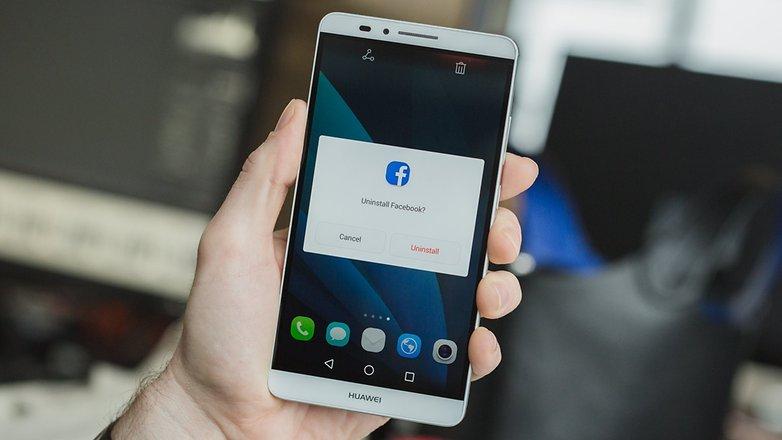 Удаление приложения AndroidPIT Facebook