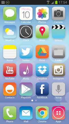 Jelly Bean Wallpaper For Iphone Want The Ios 7 Look On Your Android Download This Skin