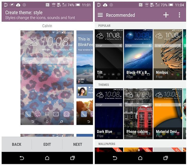 androidpit htc one m9 темы x