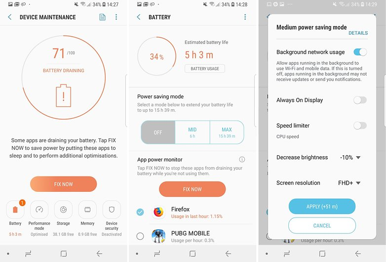 AndroidPIT Samsung Galaxy S9 battery tips 03