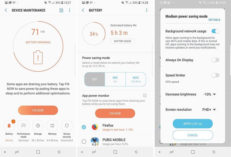 Советы по работе с аккумулятором AndroidPIT Samsung Galaxy S9 03
