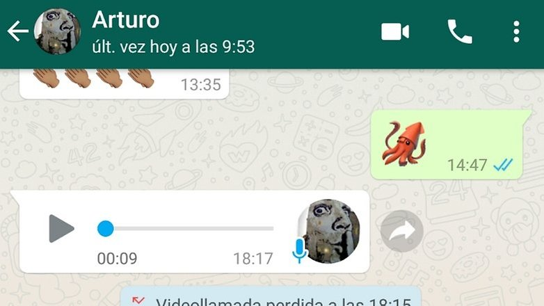 Android whatsapp video call icon