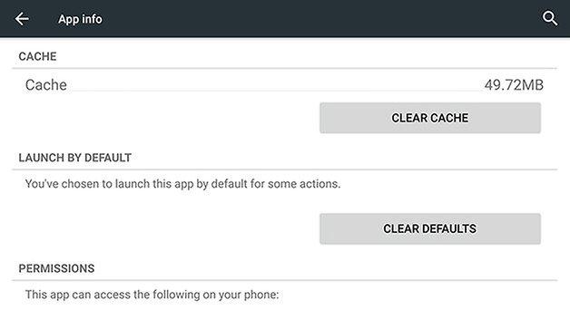 Кеш приложения AndroidPIT Nexus 6
