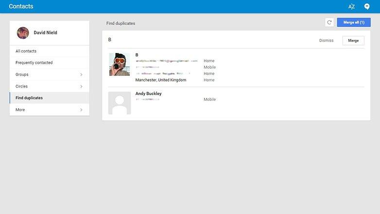 androidpit дубликаты контактов Gmail