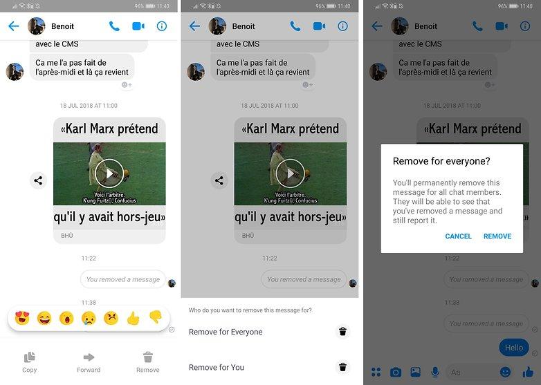 androidpit удалить сообщение facebook messenger