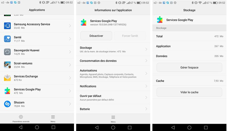 androidpit fr vider cache google play services