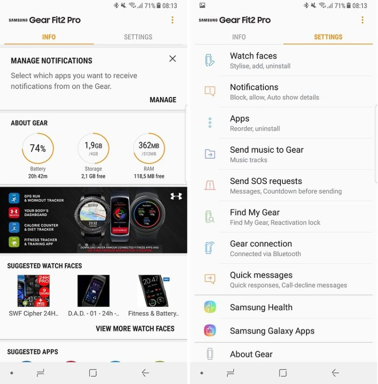 androidpit gear fit2 pro app