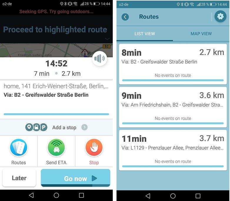 Androidpit waze routes