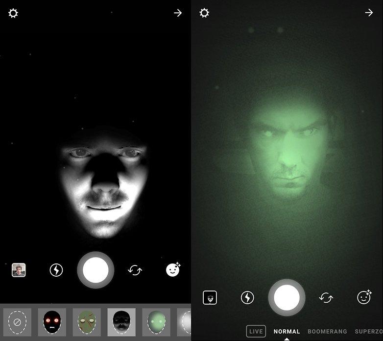 androidpit instagram фильтр хэллоуин