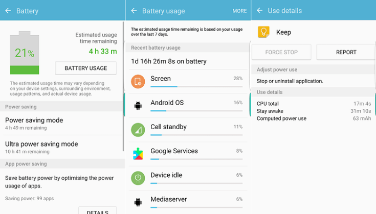androidpit samsung battery options
