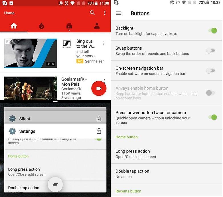 OnePlus3T с разделенным экраном