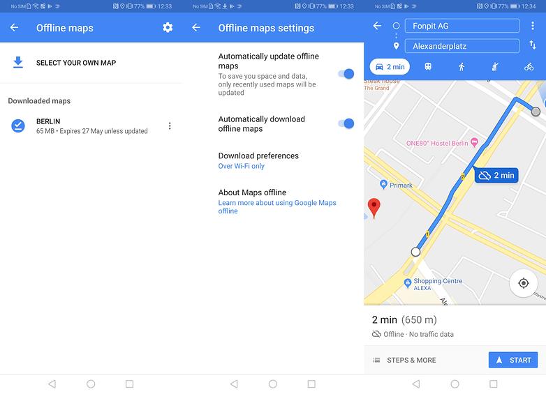 как использовать карты Google в автономном режиме2