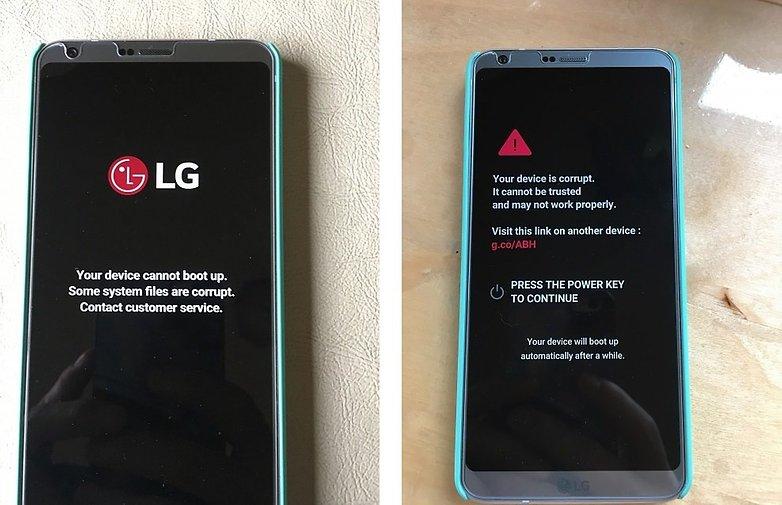 lg g6 android центральная ошибка selvinsosa повреждена