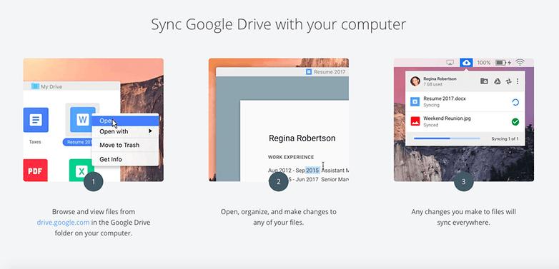 синхронизировать шаги Google Диска