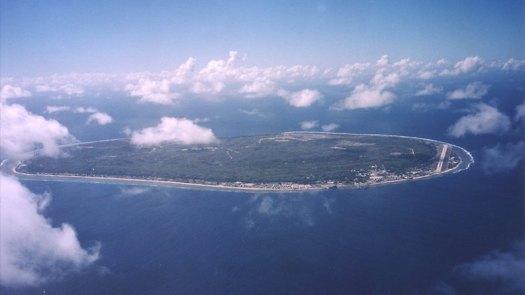 Aerial view of Nauru