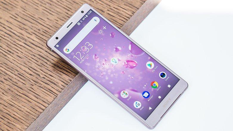 AndroidPIT sony xperia xz2 на передней панели iso h5c