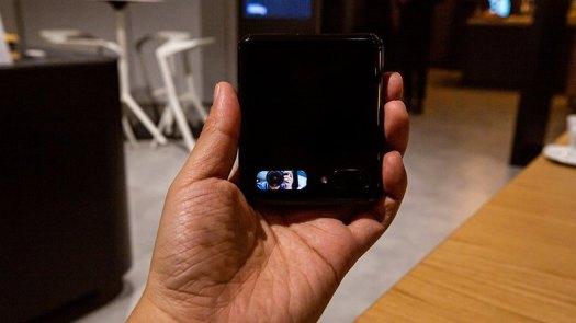 AndroidPIT samsung galaxy z flip mini viewfinder