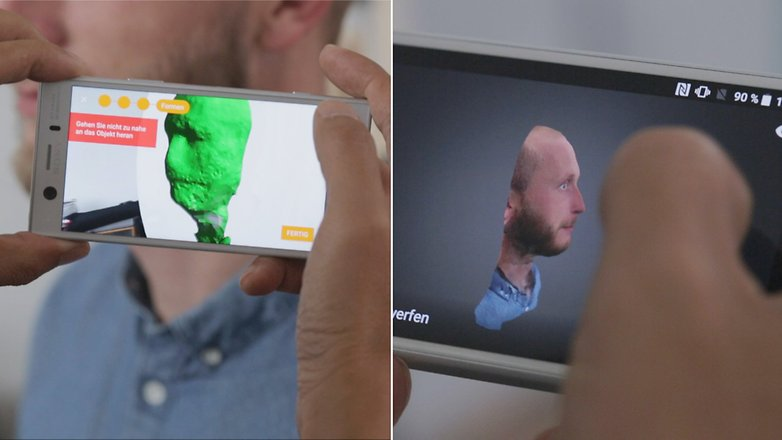 sony xperia 3d scan