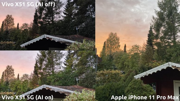 NextPit vivo x51 5g vs iphone sunset