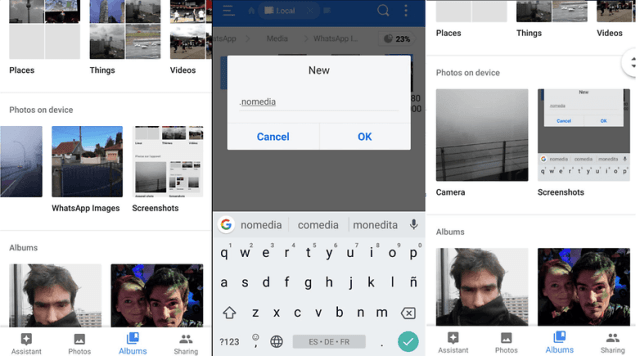 How to hide files and photos in Android