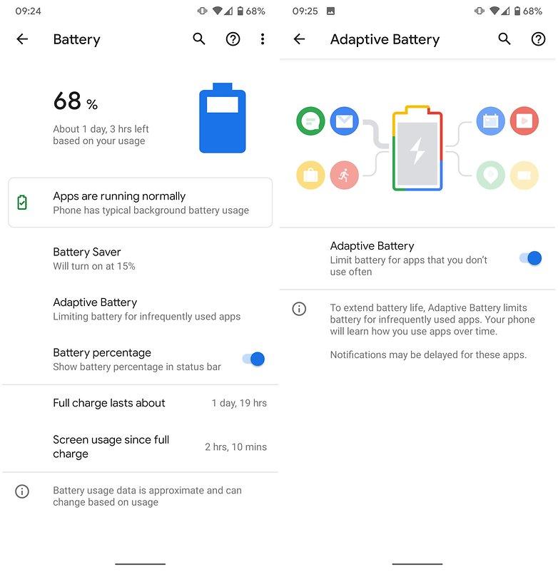 android 10 адаптивный аккумулятор