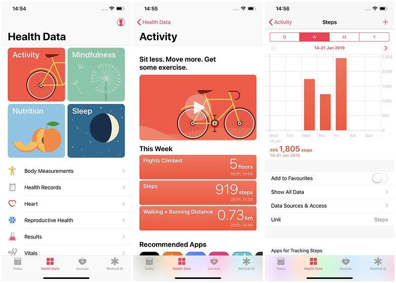 шаги приложения для здоровья Apple