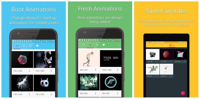загрузочная анимация Android