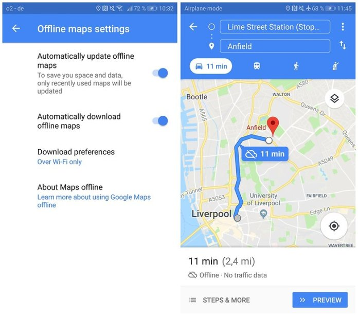 use google maps offline 04