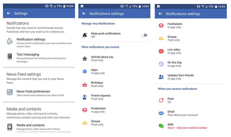 уведомления facebook