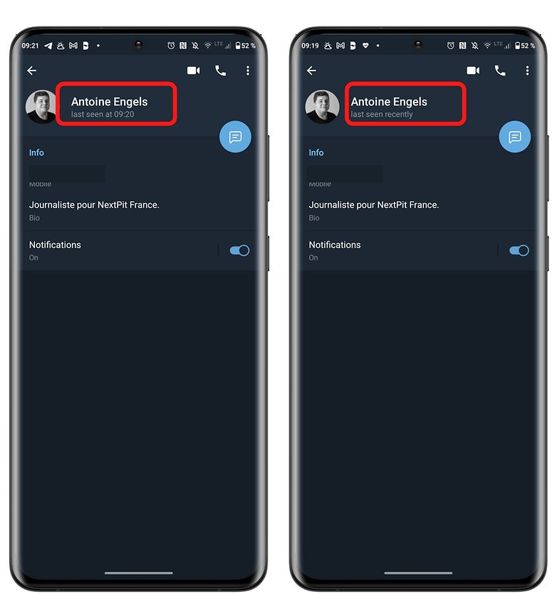 телеграмма конфиденциальность как в последний раз видели разницу