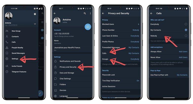 конфиденциальность телеграмм как остановить добавление к звонкам