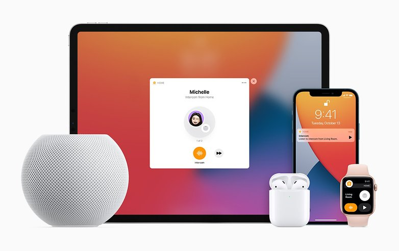 Apple HomePod iPhone Apple Watch AirPods Intercom