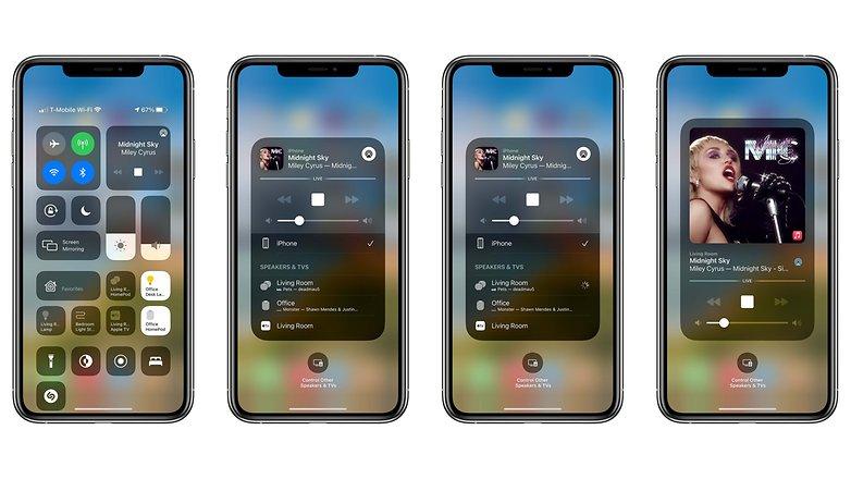 Управление музыкой HomePod iPhone iPad США