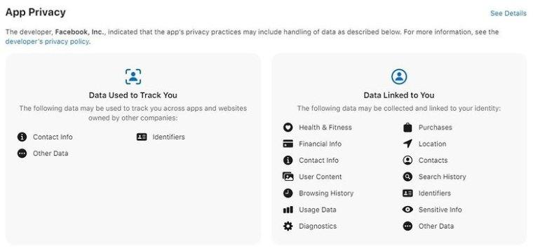 Facebook Privacy App Store EN