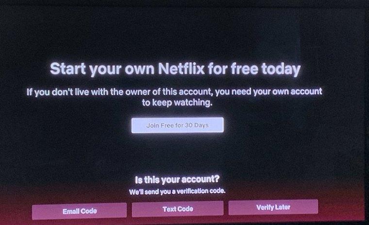 Netflix detects account sharing