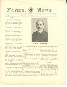Oldest surviving edition of a student newspaper, Normal News, 1916