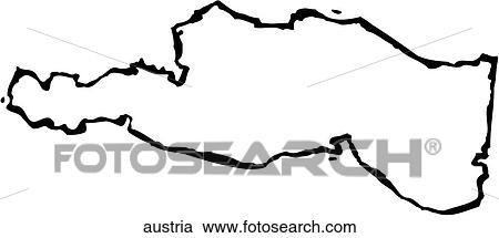 Clipart of Austria austria Search Clip Art Illustration