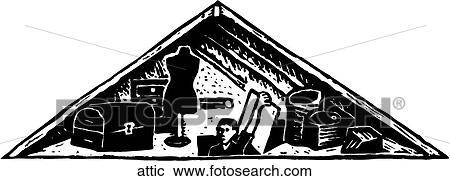 attic clipart clip fotosearch drawings vector graphic arp123