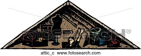 attic clipart fotosearch