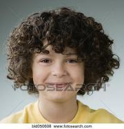 hispanic boy with curly