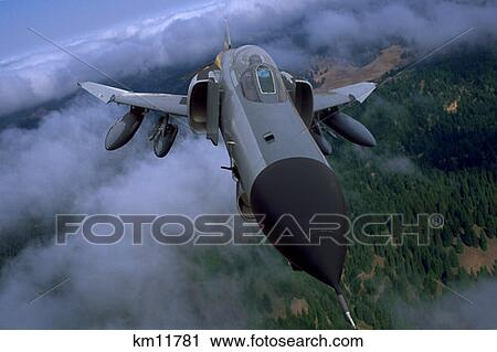 Usaf F-4C D Phantom Ii Flying Over Clouds Stock Image | km11781 | Fotosearch
