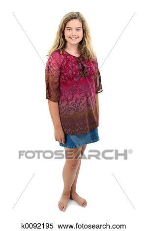 Stock Bild  barfu 12 jhrige mdchen k0092195  Suche Stockfotos Wandbilder Fotografien und Foto ClipArt  k0092195jpg