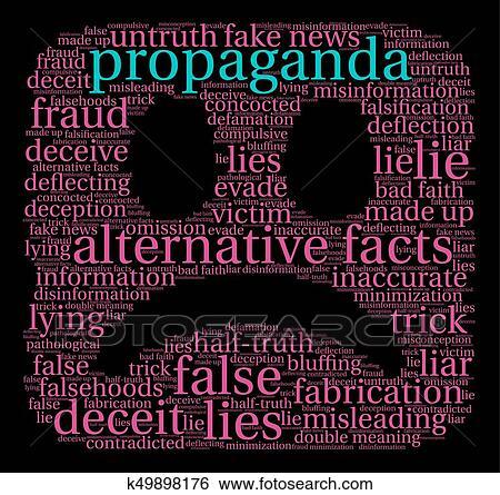 Propaganda Word Cloud Clip Art | k49898176 | Fotosearch