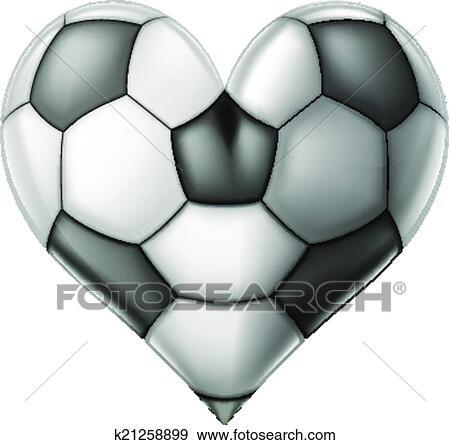 Download Love soccer heart Clip Art | k21258899 | Fotosearch
