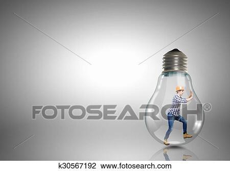 inside light bulb drawing