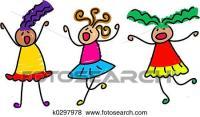 Stock Illustration of funky kids k0297978 - Search EPS ...