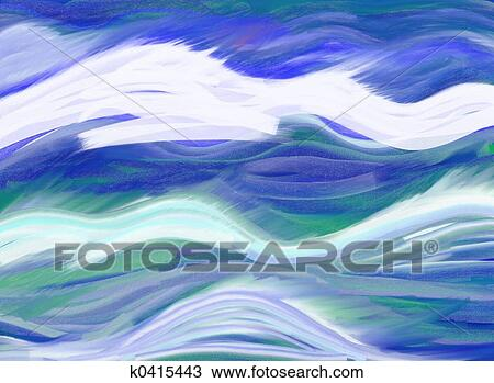 abstract waves drawing