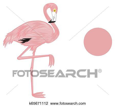 cute pink flamingo drawing