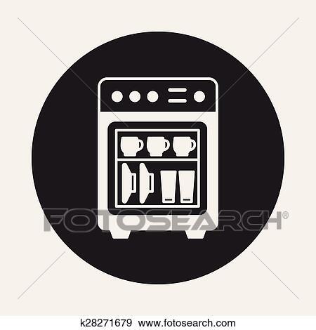 dishwasher icon clip art